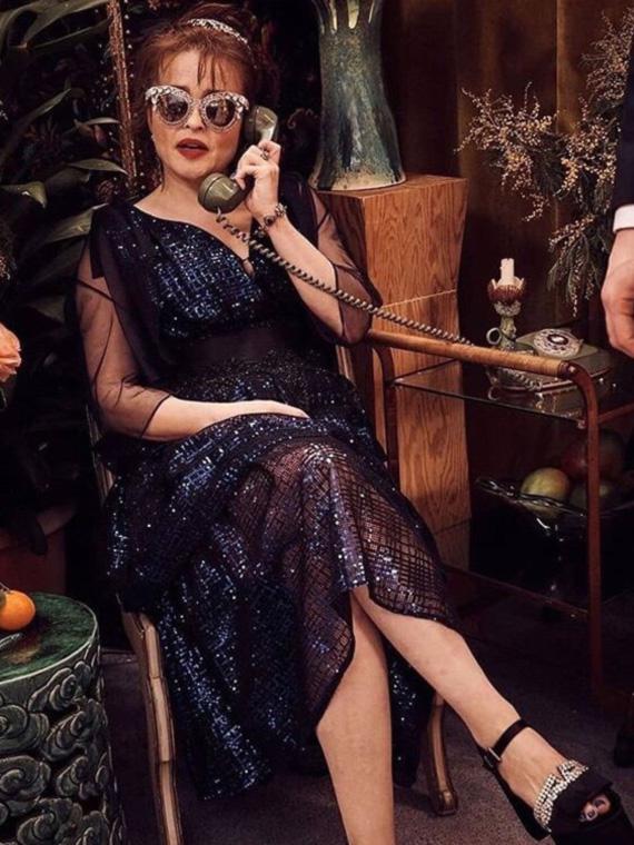 Helena Bonham Carter wearing GINA