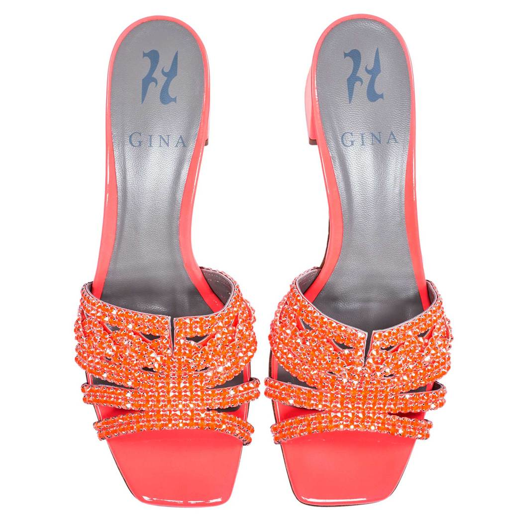 UTAH in Orange Fluopatent GINA Sandals #2