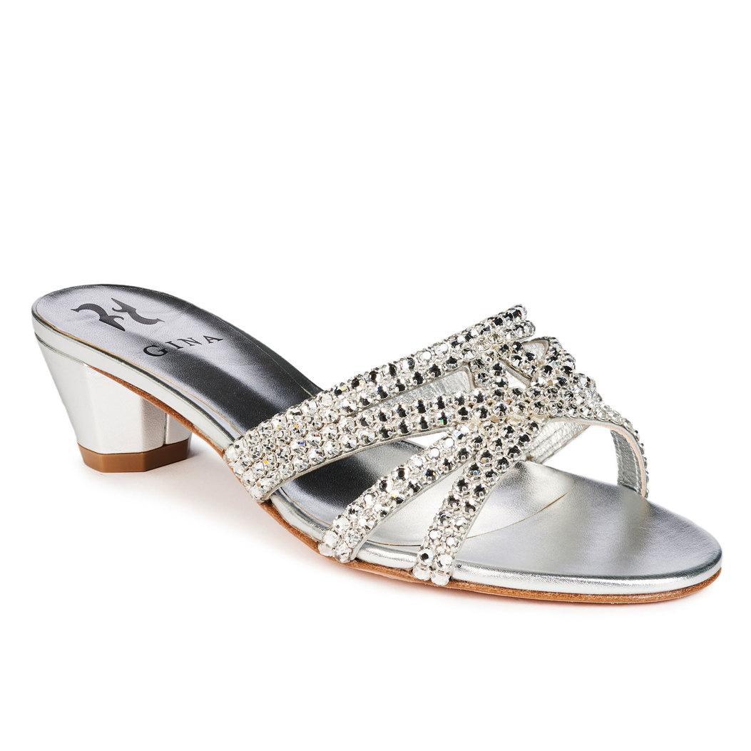 GABRIELLA in Silver Leather