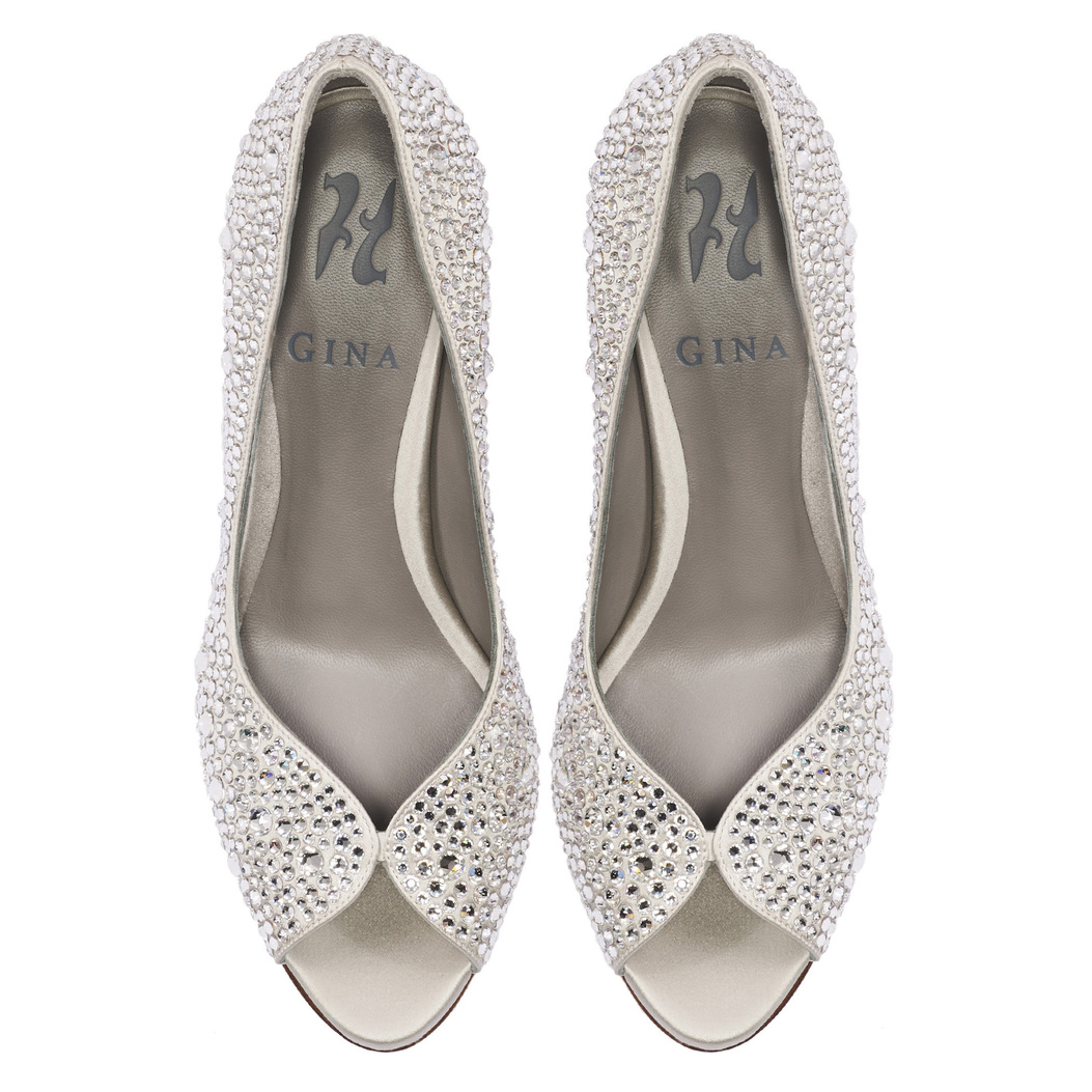 AYRES in Light Grey Satin GINA Bridal #3