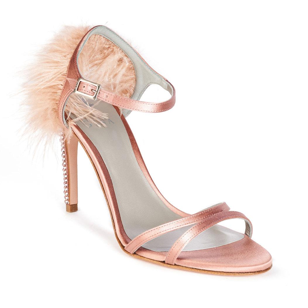 IVANA in Indian Rose Satin GINA Sandals #2