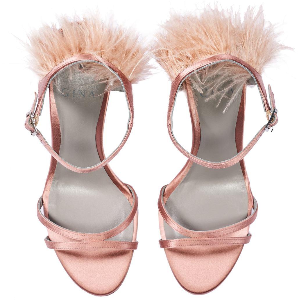 IVANA in Indian Rose Satin GINA Sandals #3