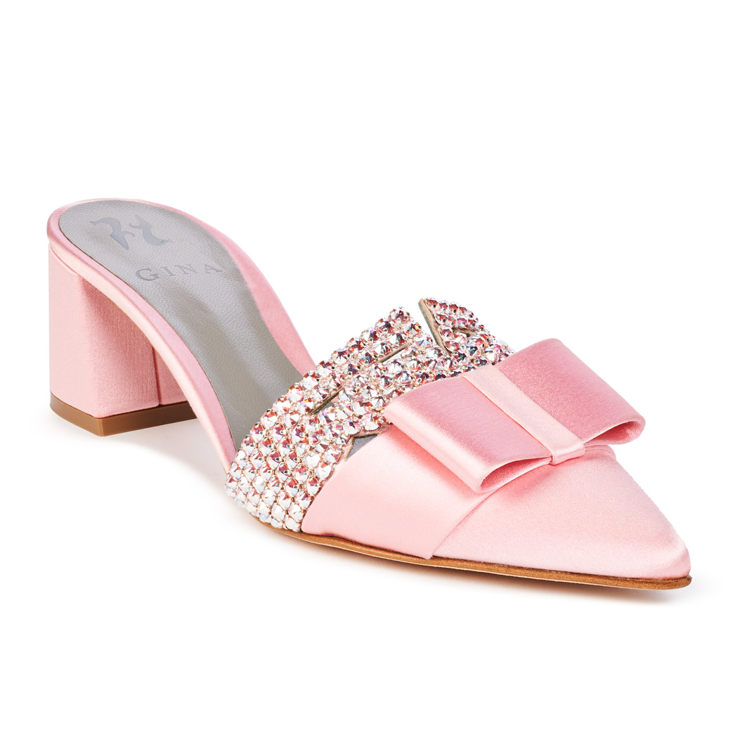 CHACHKI in Baby Pink Satin GINA Courts #2