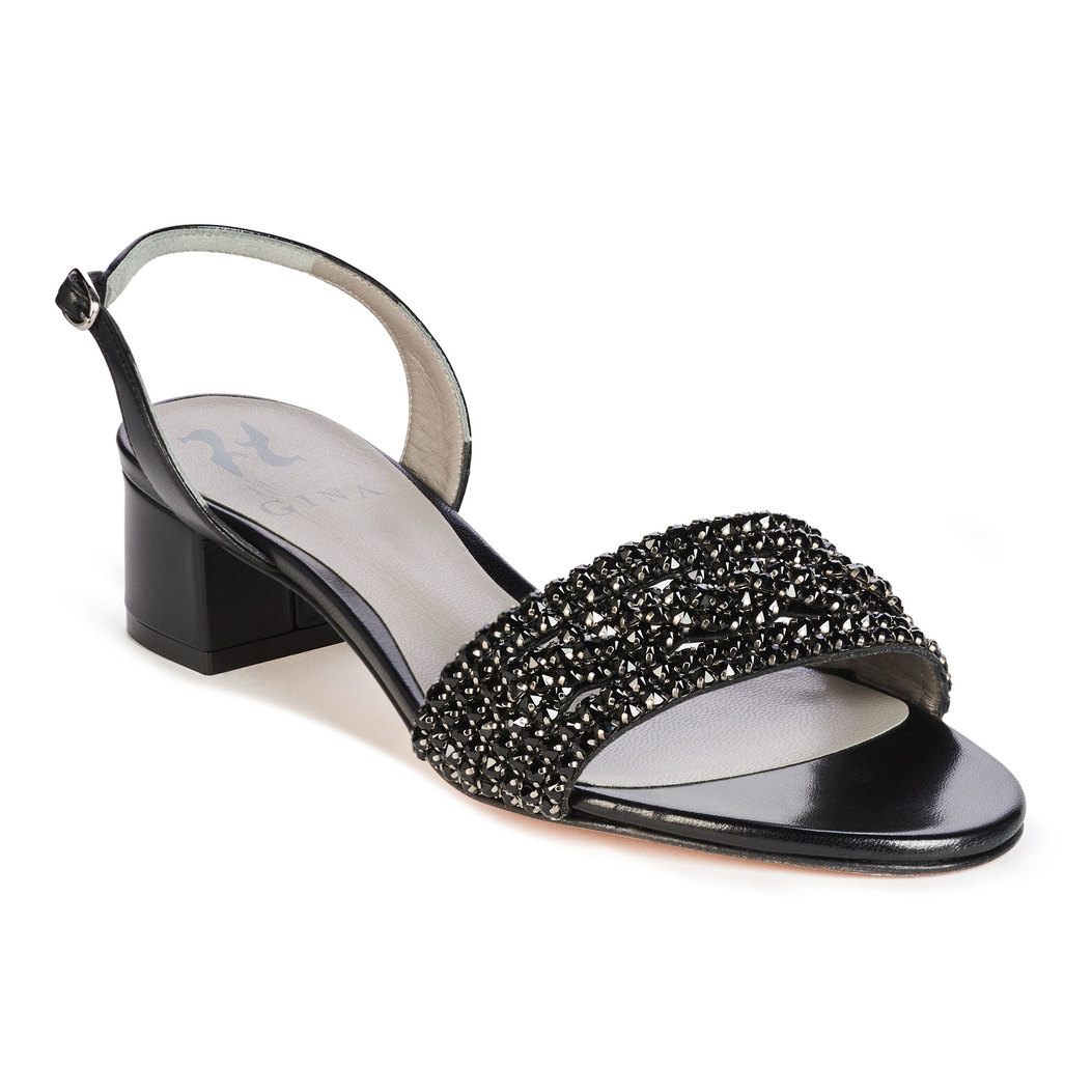 HERMIA in Black Leather GINA Sandals #2