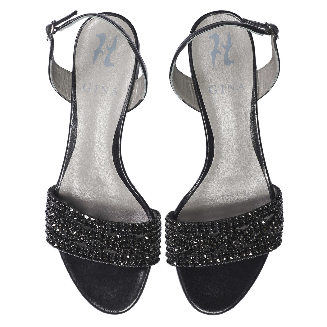 HERMIA in Black Leather GINA Sandals #3