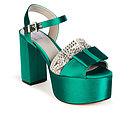 FLORRIE in Emerald Satin