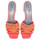 UTAH in Orange Fluopatent GINA Sandals #2