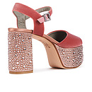 ZYLA in Indian Rose Velvet GINA Platforms #3