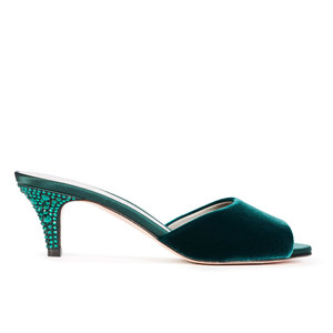 LORETTO in Emerald Velvet