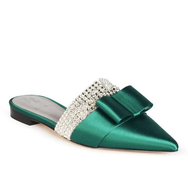 KATERINA in Emerald Satin
