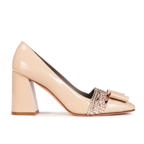 VALOIS in Beige Patent