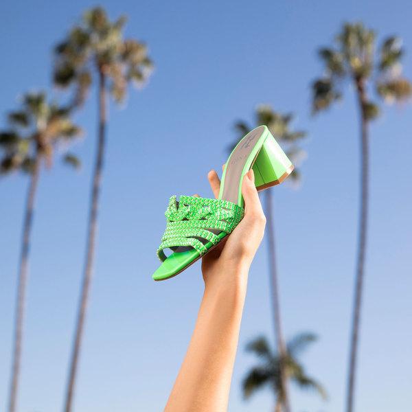 UTAH in Green Fluopatent GINA Sandals #2