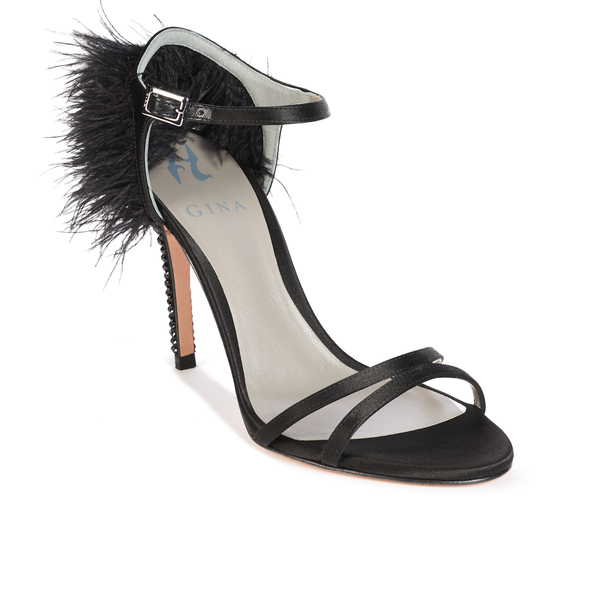 IVANA in Black Satin GINA Sandals #2