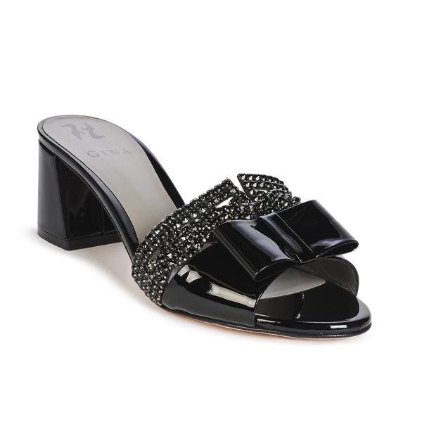 CORSICA in Black Glass GINA Sandals #2